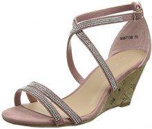 New Look Wide Foot Ping, Sandali Punta Aperta Donna, Pink (Light Pink 70), 38 EU
