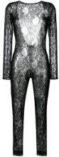 MSGM - fitted lace jumpsuit - women - Polyamide/Spandex/Elastane/Viscose - 42, 44 - BLACK