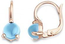 Miore FINEEARRING, oro rosa, colore: Blue Quartz, cod. MNA9010E