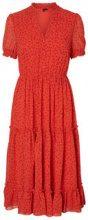 VERO MODA Floral Maxi Dress Women Red