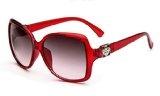 Giuramento _ singolo dettaglio floreale da donna oversize quadrato occhiali da sole Aviator 58mm