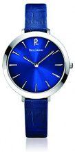 Pierre Lannier011H666Weekend Basic - Orologio da donna, analogico, al quarzo, con quadrante blu e cinturino in pelle blu