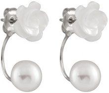 Bella Pearls Donna 925 argento Rotonda Rotonda perla cinesa da coltivazione bianco Perla FINEEARRING