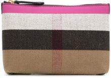 Burberry - Borsello con zip - women - Cotone/Iuta/Calf Leather - OS - MULTICOLOUR