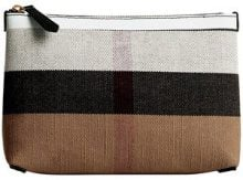 Burberry - Trousse con zip - women - Iuta/Cotone/Leather - OS - MULTICOLOUR