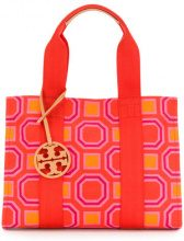 Tory Burch - printed Tory tote - women - Cotone - OS - YELLOW & ORANGE