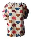 MingTai Magliette Camicia Chiffon Camicie Donna T Shirt Top Camicette Estive Donne Bluse Eleganti Camicetta Maniche Corte