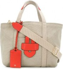 Tila March - Borsa tote 'Simple' - women - Leather/Canvas - OS - NUDE & NEUTRALS
