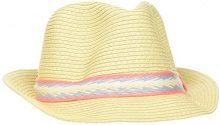 s.Oliver 39.804.92.2122, Cappello Panama Donna, Weiß (White 0860), 55 cm
