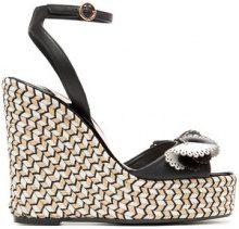Sophia Webster - black, white and beige soleil lucita 140 leather sandals - women - Leather/rubber - 35, 36, 37, 38, 39, 40, 41 - BLACK