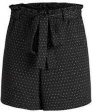 PIECES Dotted Mid Waist Shorts Women Black