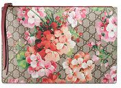 Gucci - GG Blooms Supreme pouch - women - Canvas - OS - NUDE & NEUTRALS