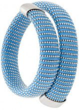 Carolina Bucci - Caro cuff bracelet - women - Cotone/Silver - OS - Blu