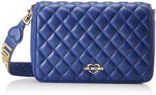Love Moschino Borsa Quilted Nappa Pu Blu - Borse a spalla Donna, (Blue), 6x19x28 cm (B x H T)