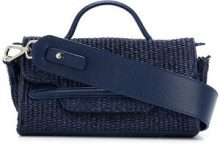 Zanellato - Mini borsa 'Nina' - women - Raffia/Leather - One Size - BLUE