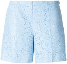 Blugirl - Shorts di pizzo a fiori - women - Cotton/Polyamide/Polyester - 42 - BLUE
