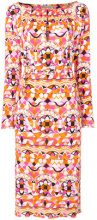 Emilio Pucci - printed midi dress - women - Viscose/Silk - 40, 42, 44, 46, 38 - Giallo & arancio