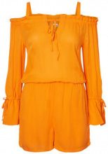 NOISY MAY Off-shoulder Playsuit Women Orange