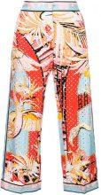Emilio Pucci - Pantaloni crop - women - Silk - 42, 46, 38, 40, 44 - Multicolore