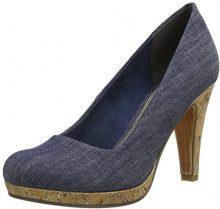 MARCO TOZZI 22450, Scarpe con Tacco Donna, Blu (Jeans Comb), 36 EU