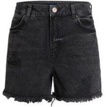 PIECES High Waist Mom Shorts Women Black