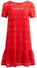 VILA Lace Short Sleeved Dress Women Red