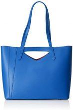 Chicca Borse 8610, Borsa a Spalla Donna, Blu (Blue), 40x38x14 cm (W x H x L)