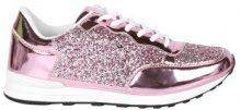 Sneakers con parti metallizzate & glitter