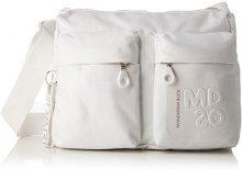 Mandarina Duck Md20 Lux Tracolla - Borse a spalla Donna, Bianco (White Lux), 8.5x20x29 cm (B x H T)