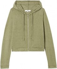 FIND Supersoft Hooded Cappuccio Donna, Verde (Khaki), 42 (Taglia Produttore: Small)