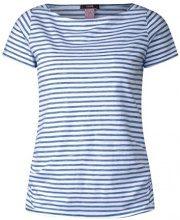 Cecil 312145, T-Shirt Donna, Weiß (White 20000), XS