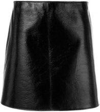 Courrèges - Gonna a trapezio - women - Cotton/Polyurethane/Acetate/Cupro - 34, 38 - BLACK