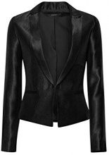 ESPRIT Collection 117eo1g014, Blazer Donna, Nero (Black 001), 36
