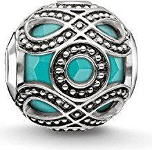 """Thomas Sabo Karma Beads, Donna, Bead """"etnico turchese"""", argento sterling 925 niellato"""
