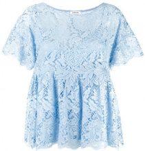 P.A.R.O.S.H. - Rift blouse - women - Cotone/Polyamide/Polyester/Viscose - XS - Blu