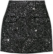 Balmain - Gonna mini - women - Cotton/Spandex/Elastane/Viscose/glass - 36, 38 - BLACK