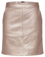 ONLY Leather Look Skirt Women Pastel
