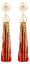 - Rosantica - orecchini grandi con nappa - women - ottone/cotone - Taglia Unica - effetto metallizzato