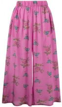 Natasha Zinko - Gonna pantalone floreale stile pigiama - women - Silk - 36 - PINK & PURPLE
