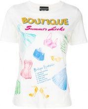 Boutique Moschino - Summer Looks graphic T-shirt - women - Cotton - 42, 44 - WHITE
