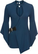 Top con fibbia (Blu) - BODYFLIRT boutique