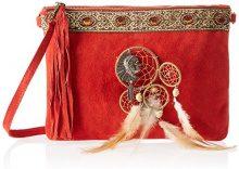 Chicca Borse 1525, Borsa a Spalla Donna, Rosso (Red), 30x22x2 cm (W x H x L)