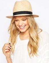 ASOS - Cappello trilby in paglia con fascia sottile
