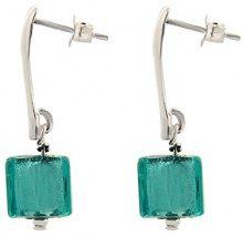 Amanti Venezia, orecchini cubici in vetro di Murano, colore: foglia di tè