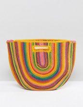 Bershka - Borsa di paglia arcobaleno multicolore - Multicolore