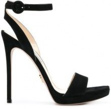 Prada - high heel sandals - women - Leather/Suede/rubber - 38.5, 39, 39.5 - BLACK