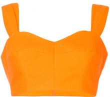 Vika Gazinskaya - Top corto - women - Cotton - 40 - YELLOW & ORANGE