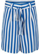 Y.A.S Blue Striped Shorts Women Blue