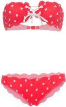 Marysia - Antibes scalloped polka dot bikini - women - Polyamide/Spandex/Elastane - XS - RED