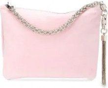 Jimmy Choo - Callie clutch bag - women - Suede - One Size - PINK & PURPLE
